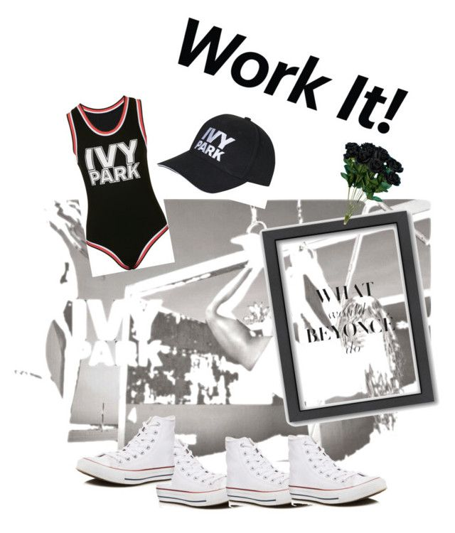 """""""work whatever it is"""" by kayearnold on Polyvore featuring b. scott, Ivy Park, Converse and Americanflat"""