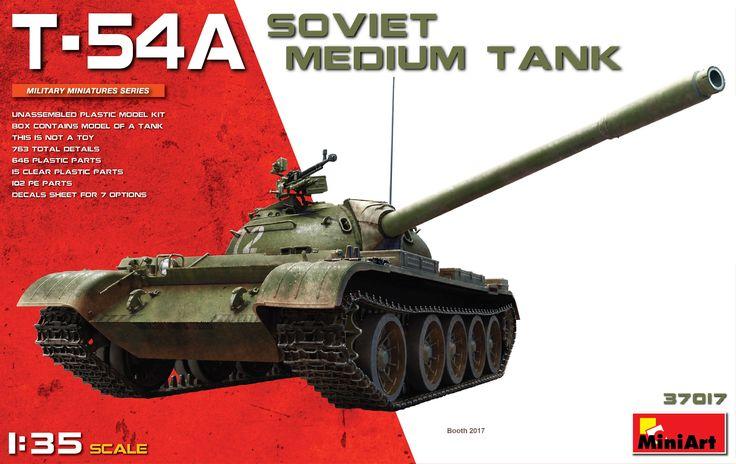 New #MiniArt's Kit In Progress:  37017 T-54A SOVIET MEDIUM TANK http://miniart-models.com/37017/