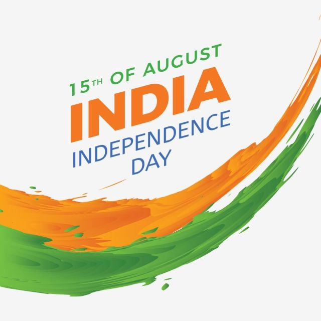 Modern Indian Independence Day Brush Splatter Modern Brush