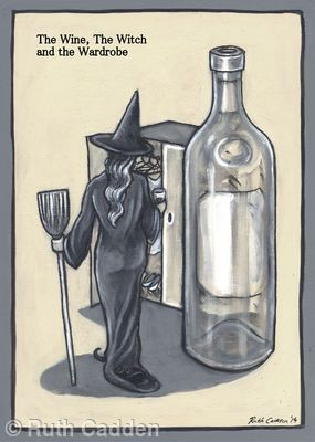 The Wine, The Witch and The Wardrobe - Giclee Print