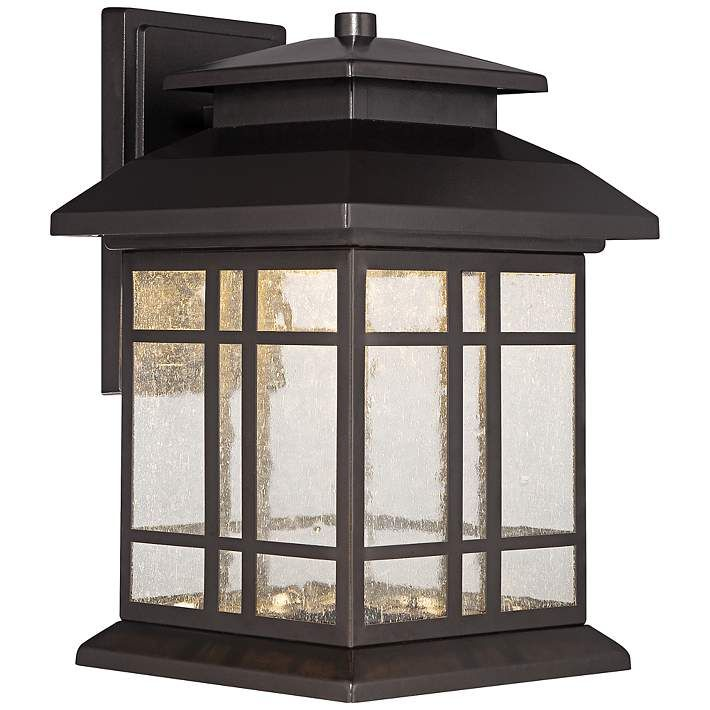 """Piedmont 10 1/4""""H Oil Rubbed Bronze LED Outdoor Wall Light"""