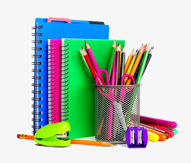 Colored School Supplies Creative Color School Supplies Png