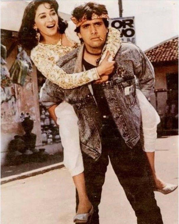 """74 Likes, 4 Comments - muvyz.com (@muvyz) on Instagram: """"#muvyz070117 #BollywoodFlashback #couplegoals #whichmuvyz #guessthemovie #Govinda #MadhuriDixit …"""""""