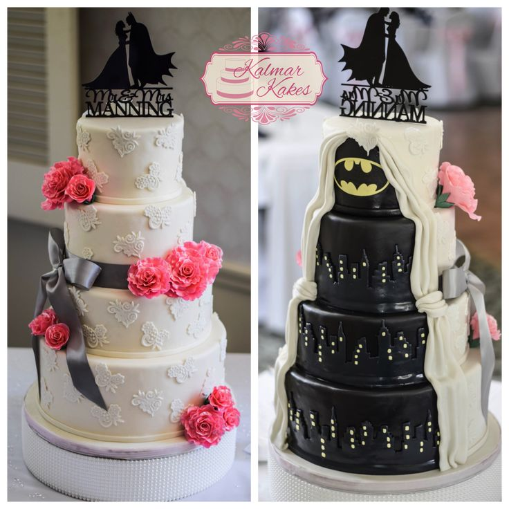 Surprise Batman Wedding cake for the groom! #batman #weddingcake #cakes