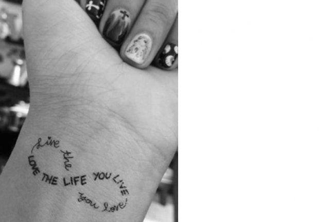 Tatuaje de frase