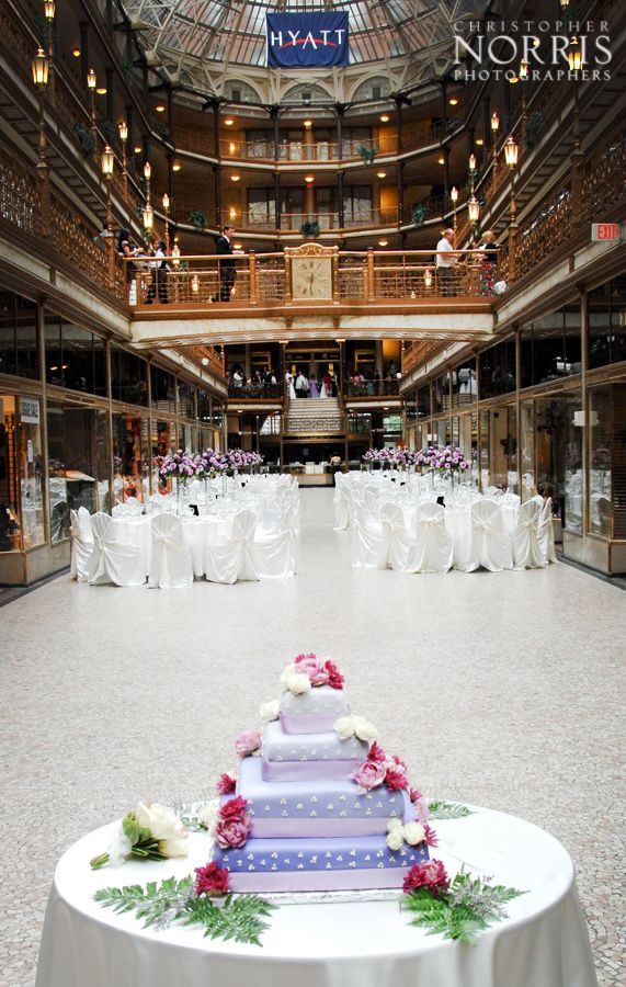 outdoor weddings near akron ohio%0A Gorgeous reception at Hyatt Regency Cleveland at The Arcade  Wedding  photography by Christopher Norris Photograpers