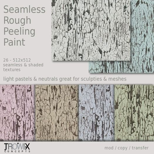 Trowix - Seamless Rough Peeling Paint Textures