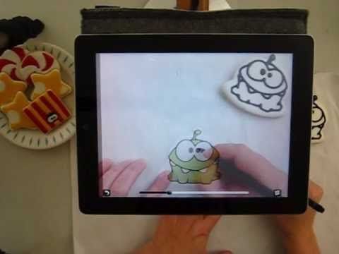 Drawing on Cookies with an Ipad.   If you happen to have an iPad lying around (or an iPhone) you can use it to draw on cookies!