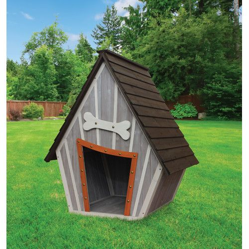 """Features:  -Solid wood construction.  -Peak roof.  Finish: -Gray and white.  Material: -Wood. Dimensions:  Overall Height - Top to Bottom: -43"""".  Overall Width - Side to Side: -30"""".  Overall Depth - F"""