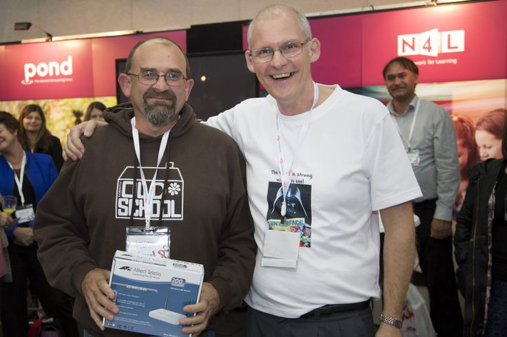 INTERFACE Editor Greg Adams with Allied Telesis prize winner Ivan Lomax