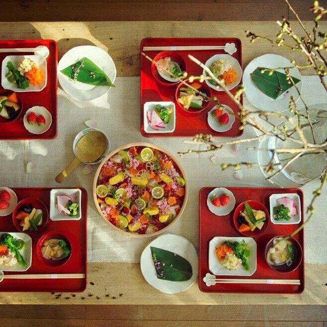 from「a table」 待ちわびていた春をつげる桃の節句、女子会のテーブルです♡