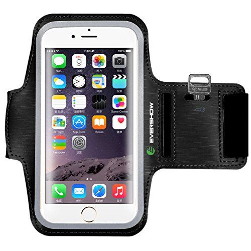 From 4.99 Sports Armband Evershow Iphone 7 Plus Running Armband Sports Phone Holder For Iphone 7/ 6 / 6s Plus Samsung S8/s8 Plus/s7 Edge Note 5 4 And Other Smartphones Up To 5.5 Inches With Key And Card Slots (black)