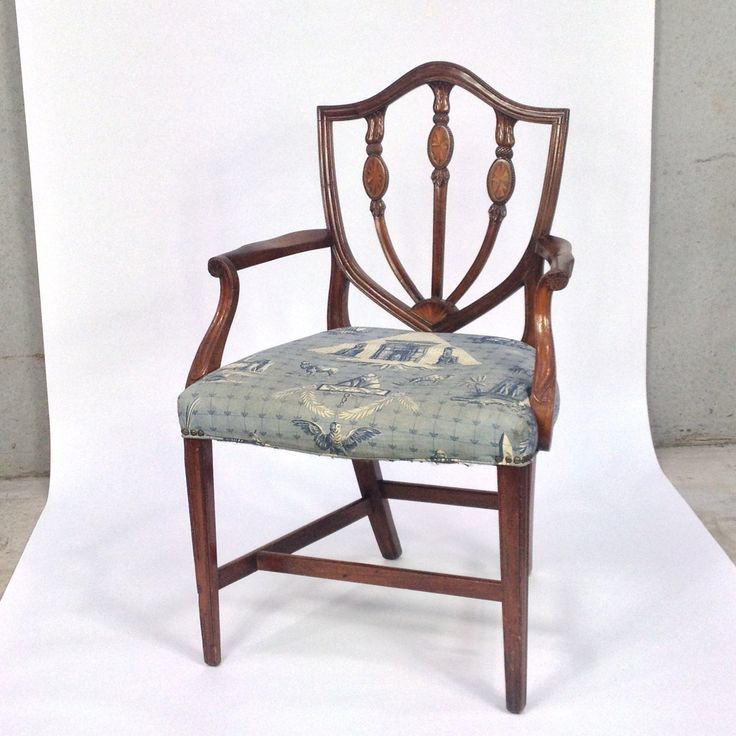 Chippendale Style Chair with Pierre Frey Monuments d'Eygpte Fabric Sea | e l l a g u r u