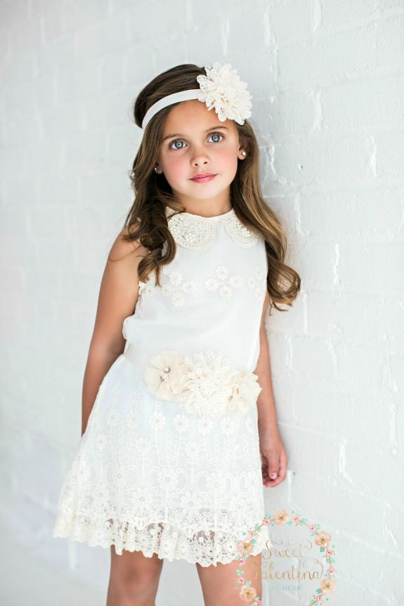 PRACHTIGE ivoor bloemenmeisje jurk meisjes lace door SweetValentina