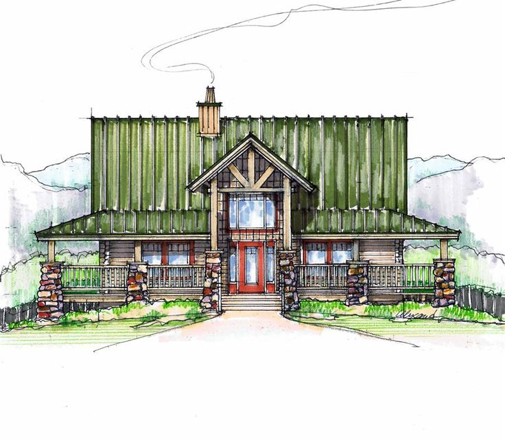 Sugar Pie Front Elevation -- Natural Element Homes