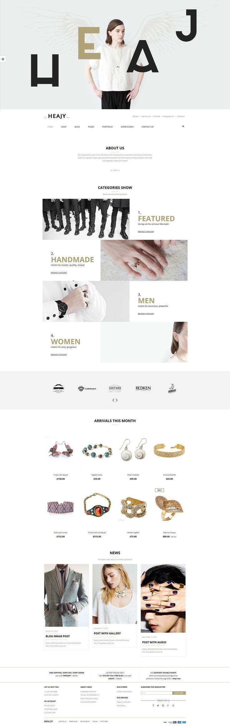 Handmade Fashion WordPress Theme #woocomerce