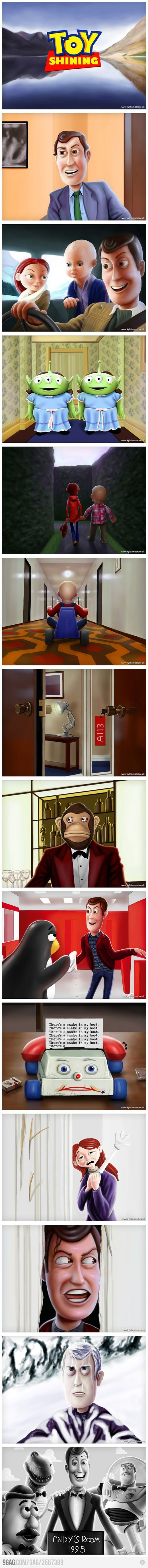 Toy Story x The Shining: Meme Funny, 9Gag Funny, Funny Humor, Lol Funny Pictures, Funny Stuff, Movie, Toys Shinee, So Funny, Toys Stories