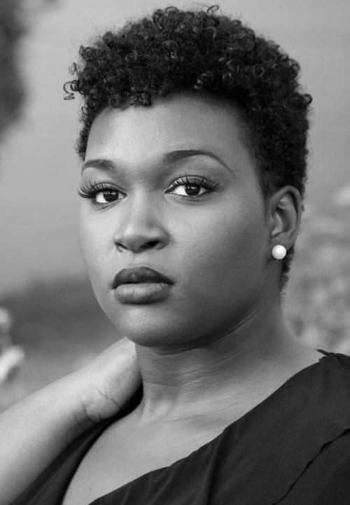 Round face with a tapered haircut or TWA. #TWA Hairstyles @INHMD 5.17.2014 International #NaturalHair #Meetup Day on twitter as @INHMD