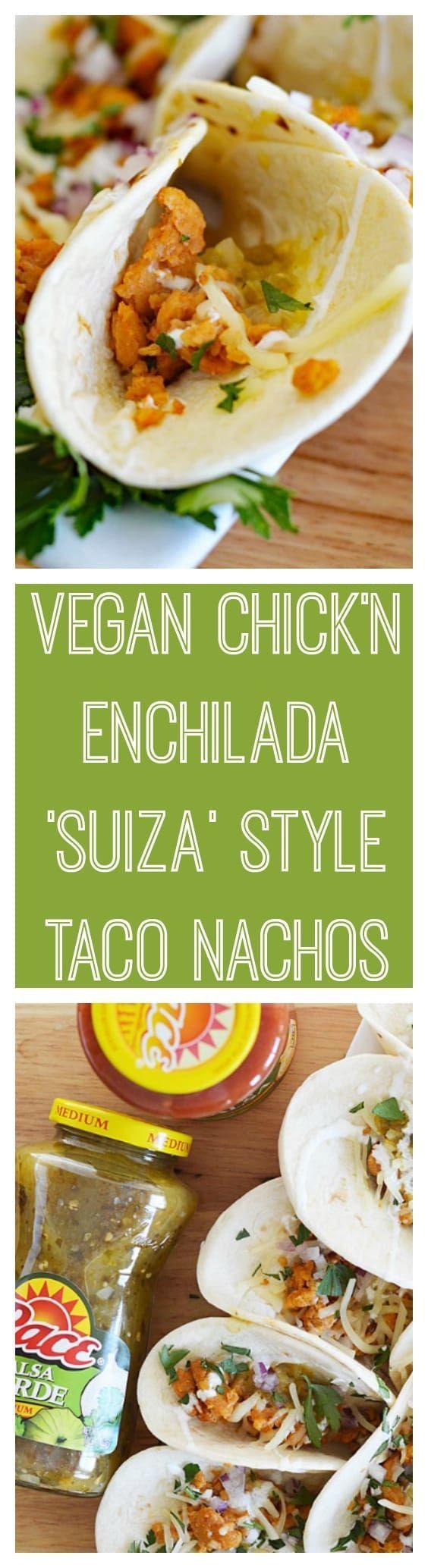 "#ad NEW #ontheblog - VEGAN CHICK'N ENCHILADAS ""SUIZA""STYLE TACO NACHOS - get the recipe here ➡️ http://theveglife.com/vegan-chicken-enchiladas-suiza-style-taco-nachos/ #MakeGameTimeSaucy #gameday #enchiladas @pacesalsaandsauces @walmart #pacesalsa #vegan #veganlife #veganrecipes #vegetarian #vegetarianrecipes #recipe #recipes #veganfood #vegansofig #veganfoodshare"