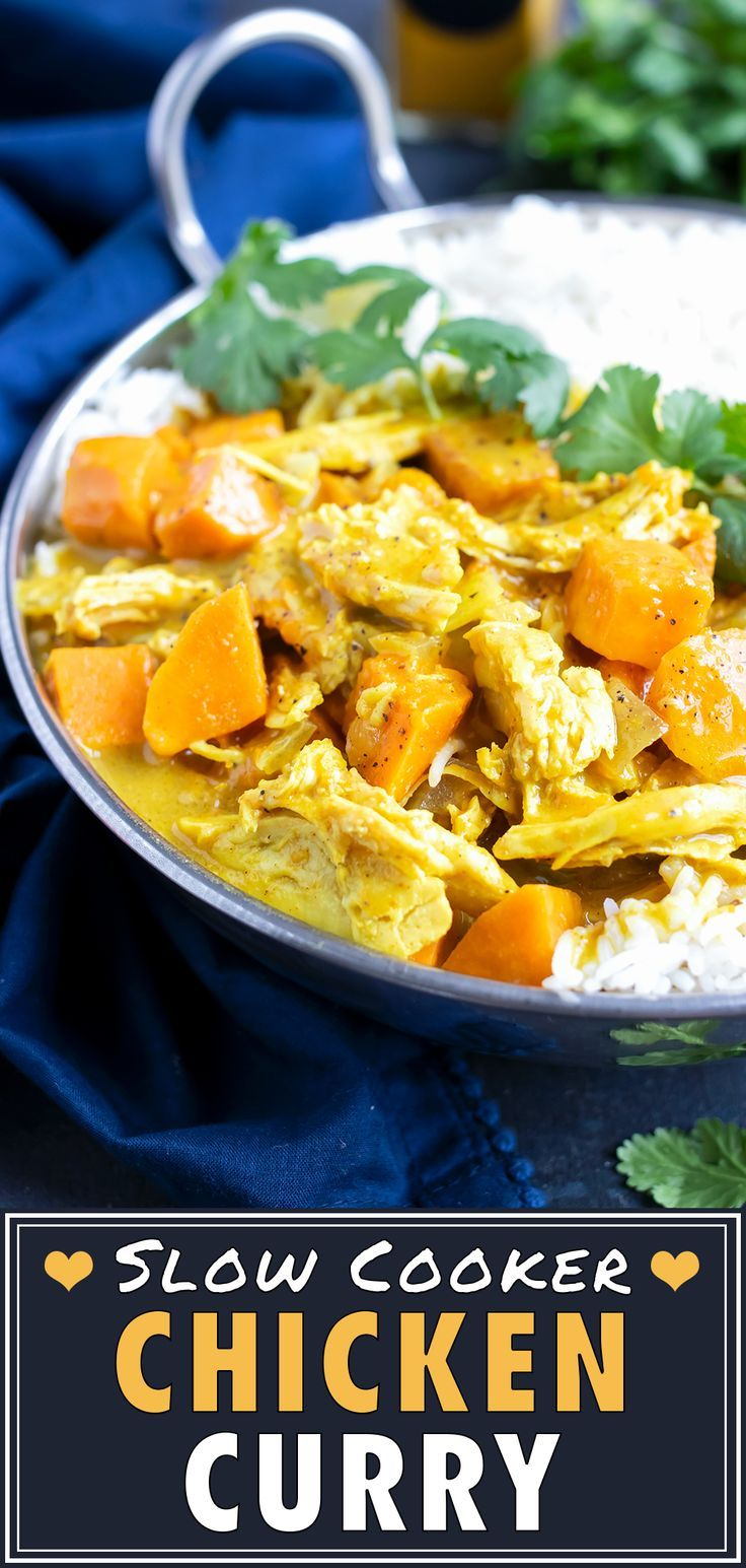 Slow Cooker Chicken Curry With Coconut Milk Evolving Table Recipe Slow Cooker Chicken Curry Healthy Dinner Party Recipes Healthy Chicken Recipes