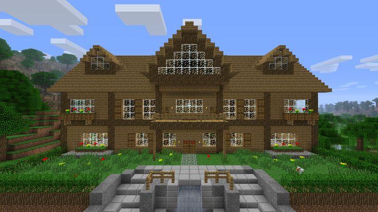 Maison minecraft projets essayer pinterest minecraft for Minecraft holzhaus