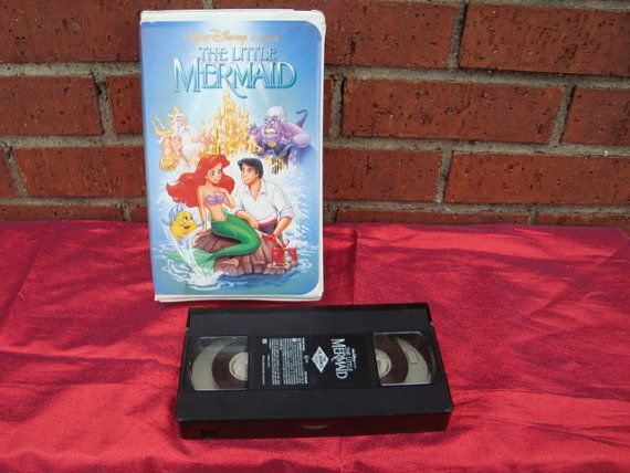 VINTAGE Walt Disney The Little Mermaid VHS TAPE by ShoppingLounge