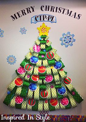 Love this Christmas tree idea for the classroom!