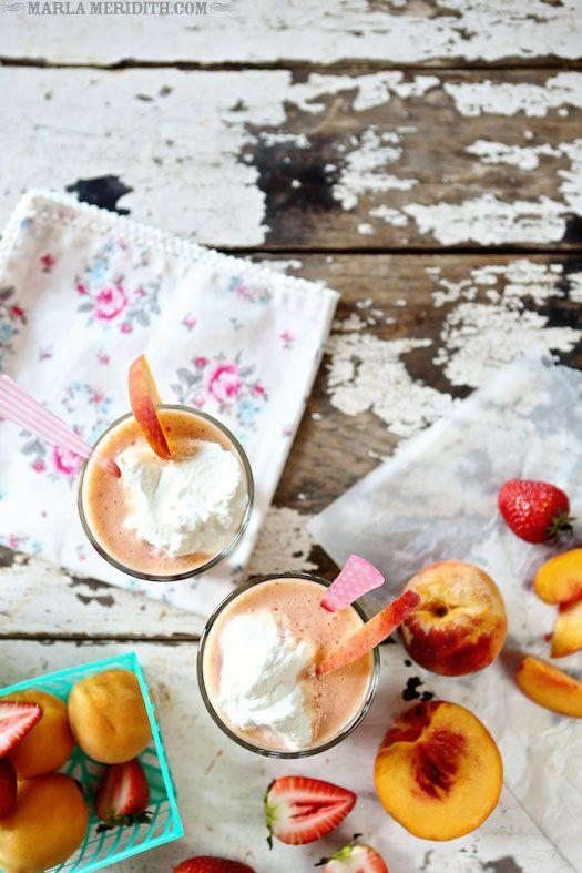 Peach, Strawberry, Apricot Smoothie | Recipe on FamilyFreshCooking.com
