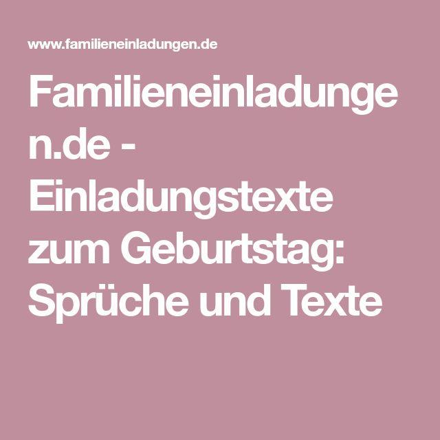 Familieneinladungen.de   Einladungstexte Zum Geburtstag: Sprüche Und Texte