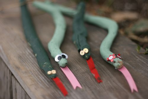 Make snakes from painted sticks and craft supplies and talk about the legend of St. Patrick and the snakes in Ireland.