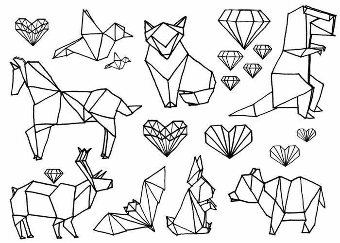 Картинки линиями животные
