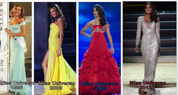 Las Cuatro Ultimas Miss Universo Venezolanas... Alicia Machado 1996 - Dayana Mendoza 2008 - Stefania Fernandez 2009 y Maria Gabriela Isler 2013