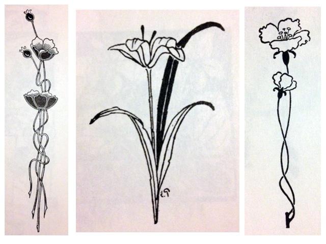 Art Nouveau Flower Tattoo: (Cover-up) Tattoo Ideas