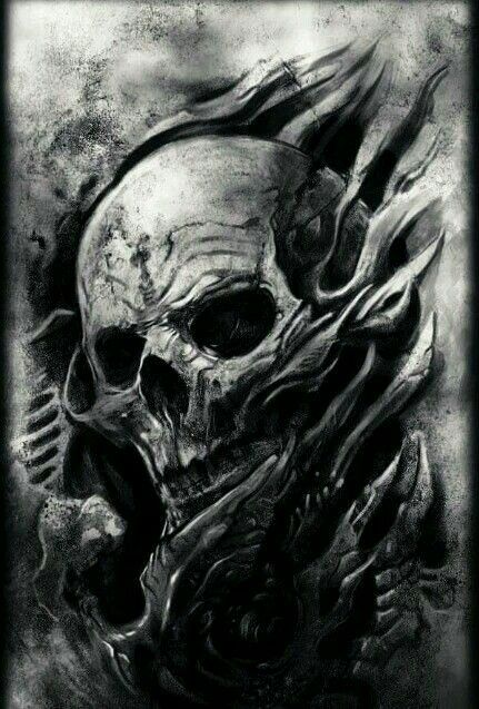 Skull illusion dark gothic art skull art - Devil skull wallpaper ...