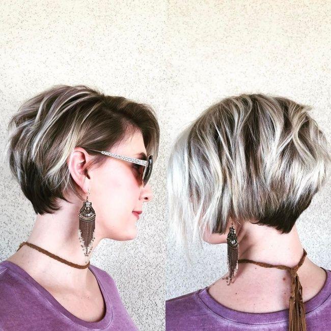 Strähnchen zum Verlieben! Hübsche Kurzhaarfrisuren in warmen Tönen mit hellen Strähnchen! - Frisuren Trend
