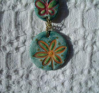 ceramic piece of necklace