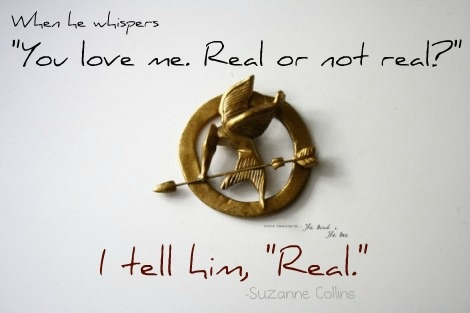 "I tell him, ""Real."" #HungerGames"