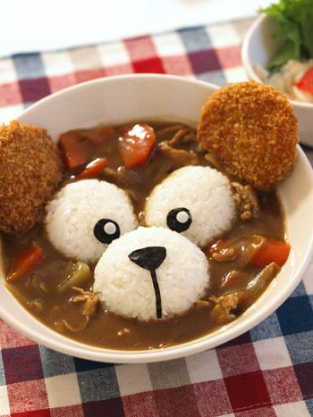 Duffy rice curry. Kawaii food