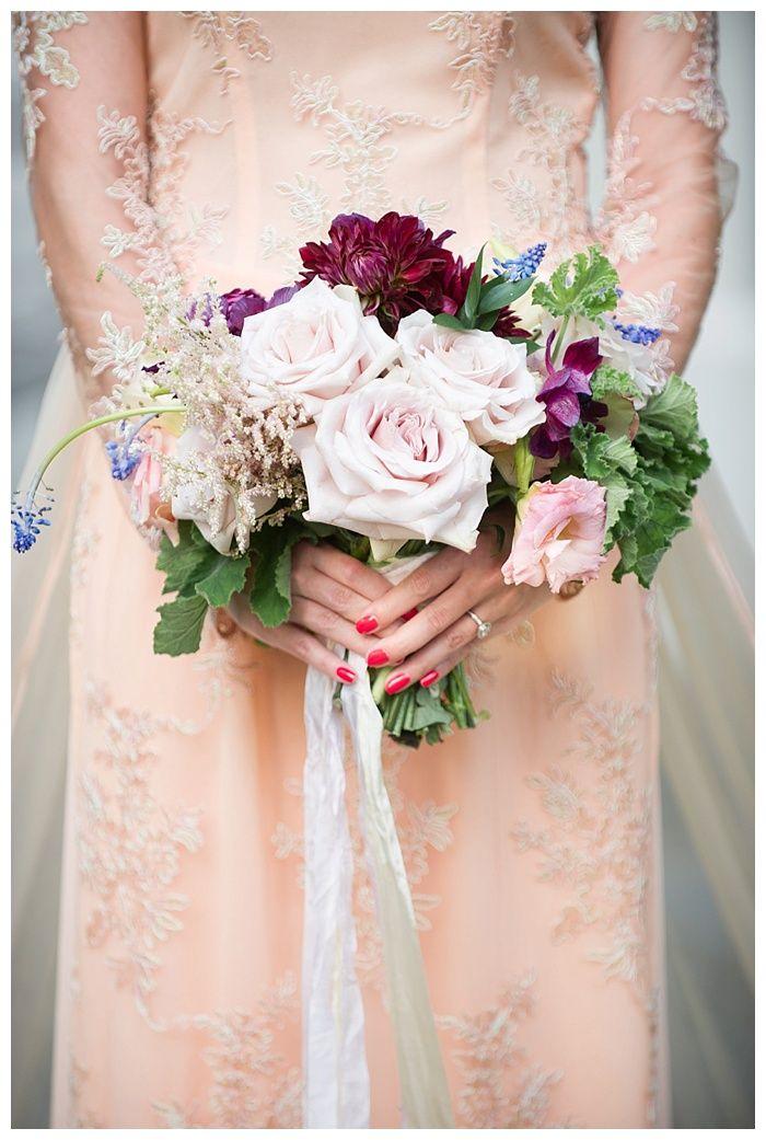 Kelli + Daniel Taylor Photography, LLC Blog » Birmingham-based wedding photography. Bride Thi wears a peach ao dai Vietnamese wedding dress. Bouquet by Mandy Busby.