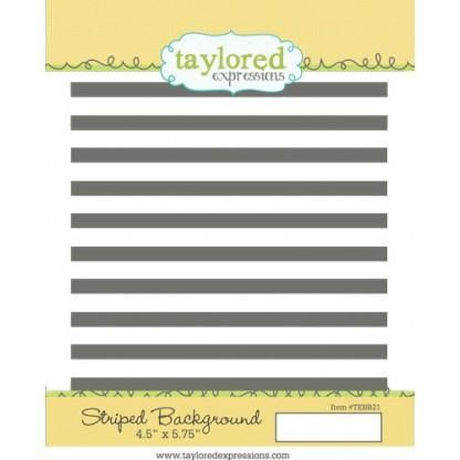 Taylored Expressions Stamp Striped Background