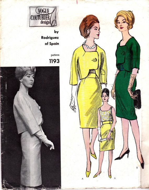 Vogue 60s Couturier Design Sewing Pattern by allthepreciousthings, $125.00