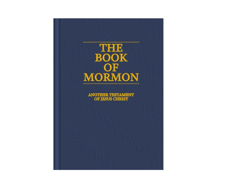 Book of Mormon LDS Missionary Embroidery Design by OCDEmbroidery on Etsy