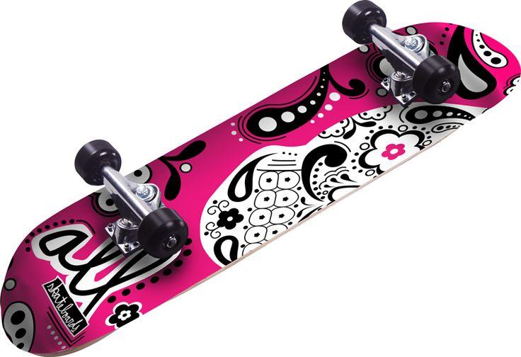 estilos para pintar skate para mujer - Buscar con Google