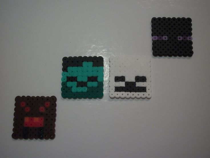 Minecraft Hostile Mobs - Hama Beads