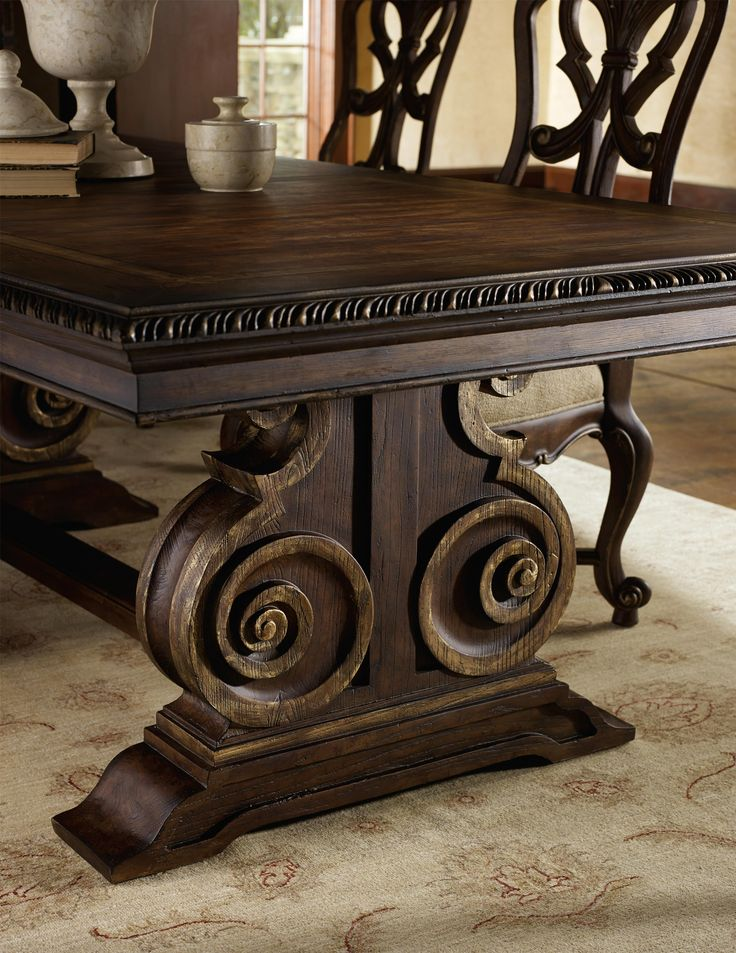 Hooker Furniture Adagio Rectangle Dining Table With Double Pedestal Base At  Olindeu0027s Furniture Hooker Furniture Manufacturer Page Part Of The Adagio ...