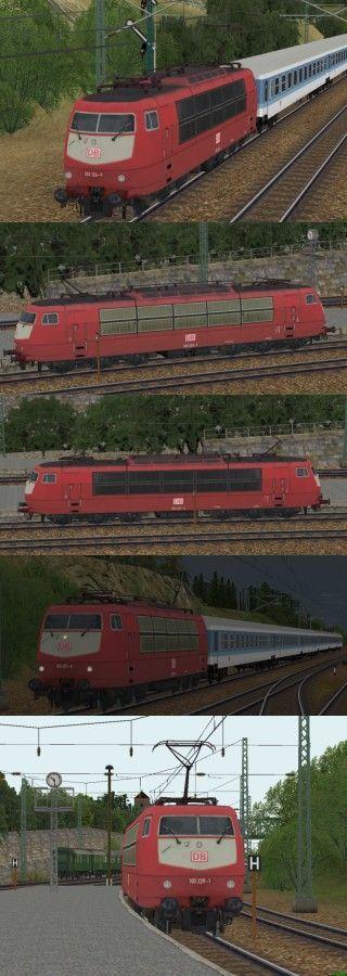 E-Lok BR 103 der DBAG Epoche V in orientroter Farbgebung