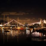 The view from Simon's Town Harbour at night