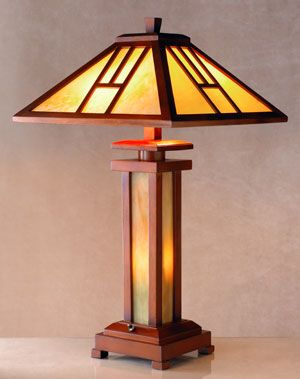 "Tiffany Mission Lamp, 26"" high with 15"" shade,  $235, Art Inst Chicago"
