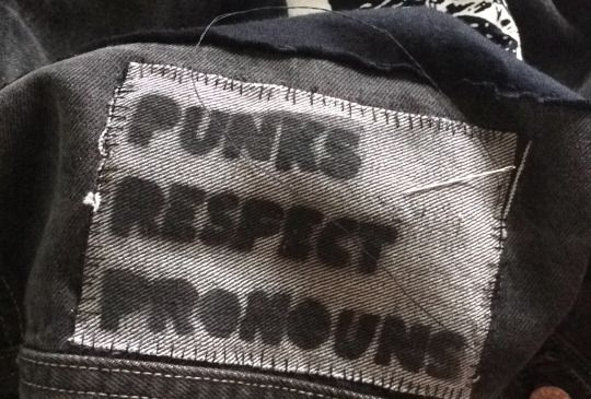 punks respect pronouns (I absolutely love this!! I should do something like this for my printmaking class!!! - B)