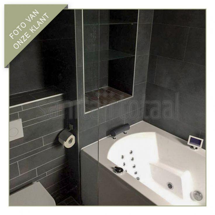 Whirlpoolbad, inbouw nisje badkamer